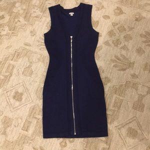 Guess Full-zip Bodycon Sweater Dress